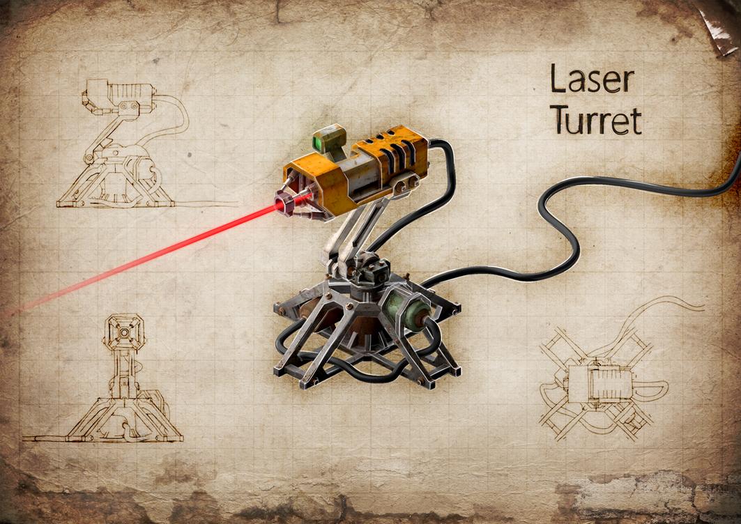Laser Turret v2 by M0NTEZUMA