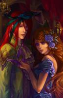 Commission: Rufus y Elizabeth by silviacaballero