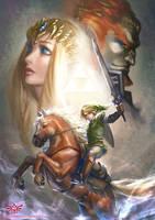 The Legend of Zelda by silviacaballero