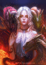 Game of Thrones: Daenerys by silviacaballero