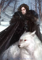 Game of Thrones: Jon Snow by silviacaballero