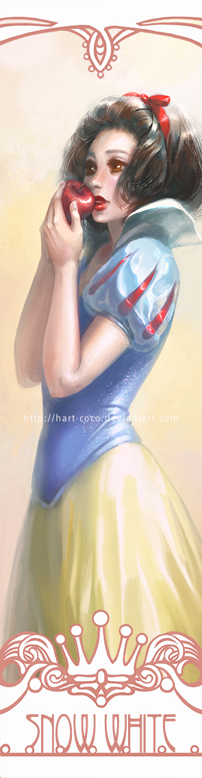 Disney Princesses Bookmarks: Snow White by hart-coco