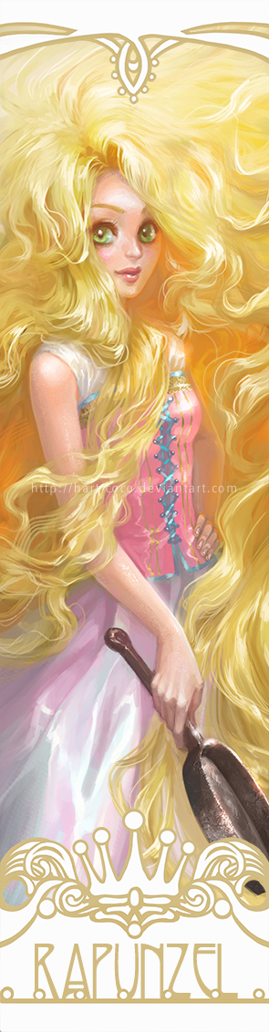 Disney Princesses Bookmarks: Rapunzel by hart-coco