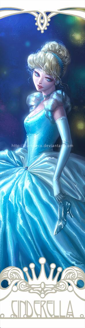 Disney Princesses Bookmarks: Cinderella by hart-coco