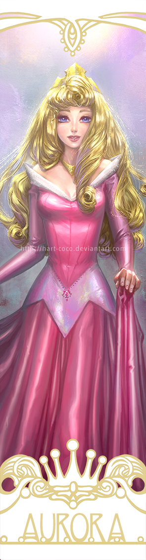 Disney Princesses Bookmarks: Sleeping Beauty by hart-coco