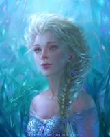 Frozen Elsa by silviacaballero