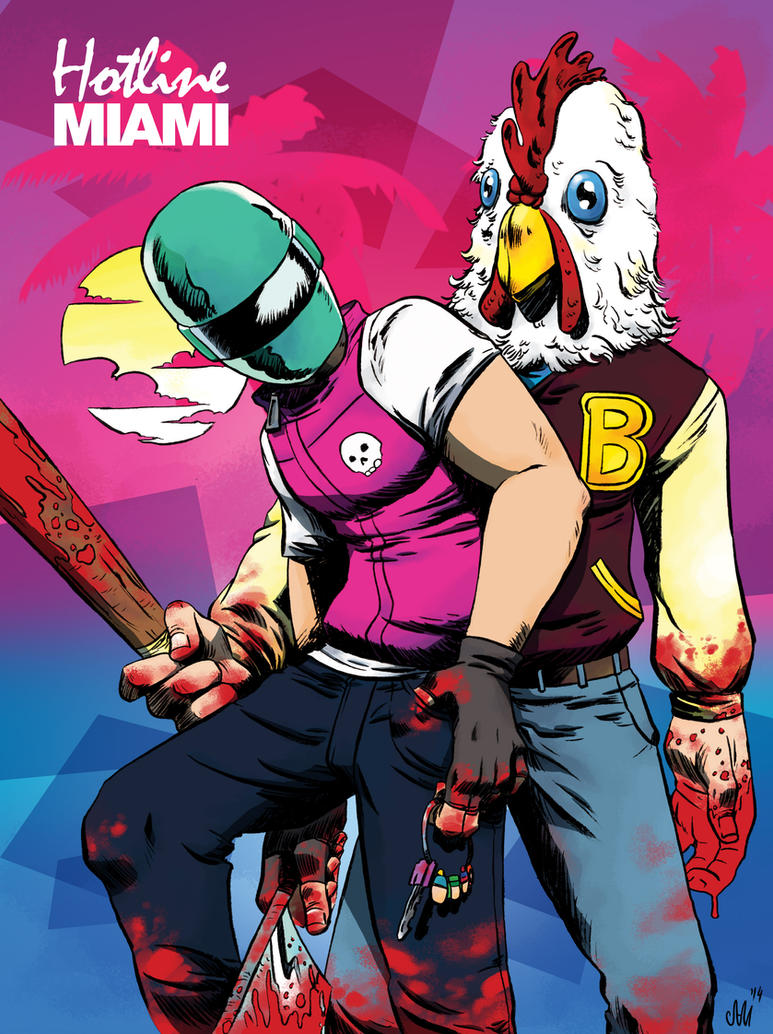 Hotline Miami's Biker and Jacket by samzombieboy