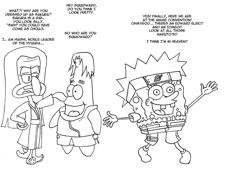 Spongebob Naruto by mattwilson83