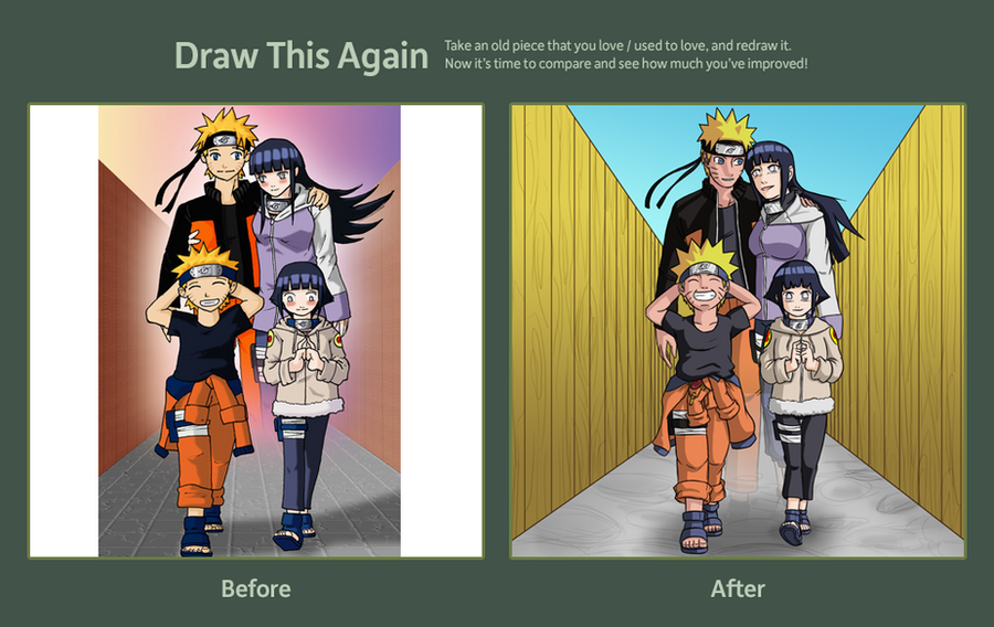 NaruHina: draw it again contest by mattwilson83