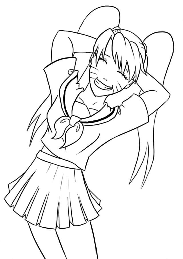 Naruko in sailor uniform by mattwilson83