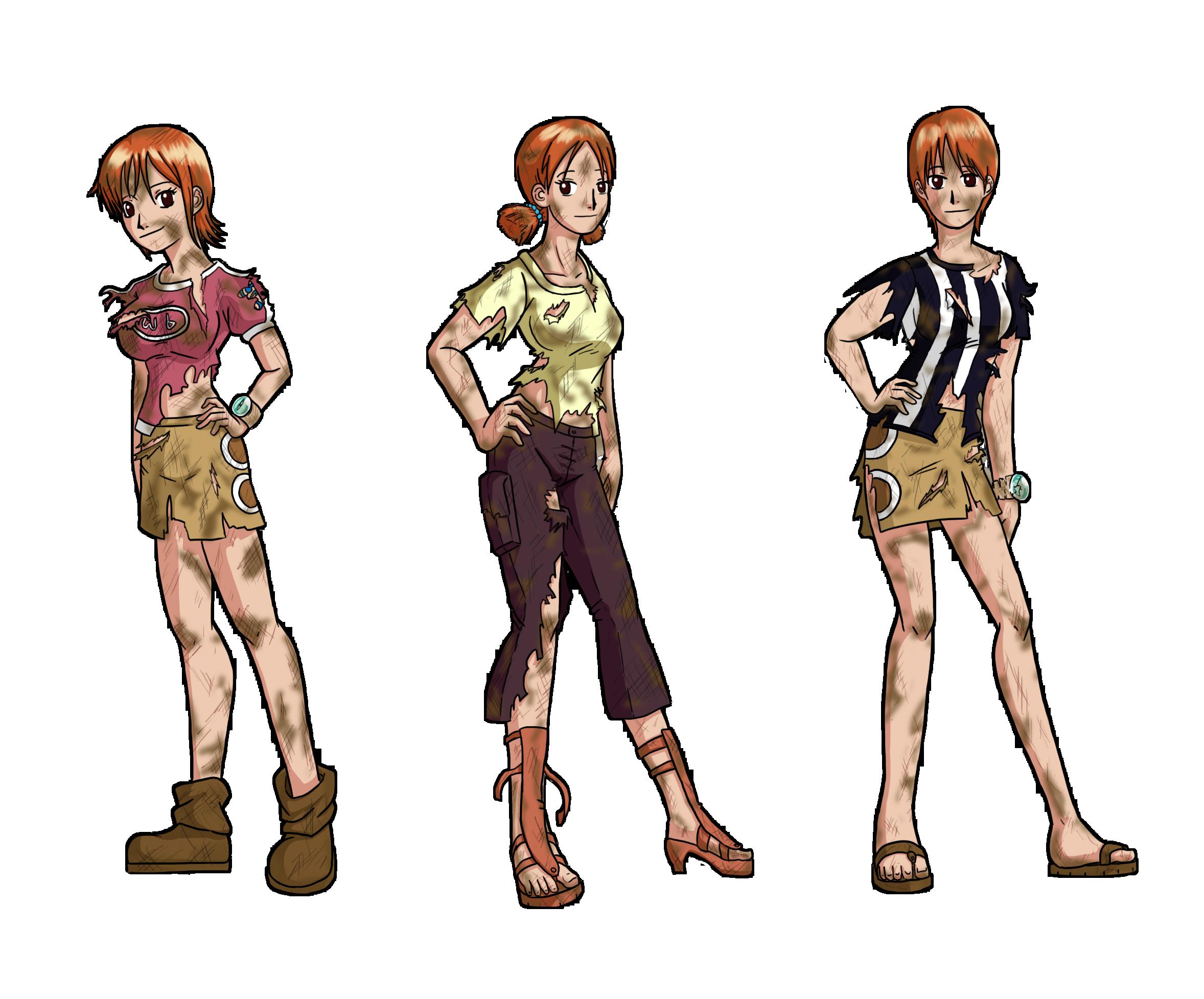 Tattered dress anime