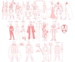 Princess Resue- character design roughs 01 v2