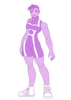 02  Mya from Ghost kiss in My hero academia suit