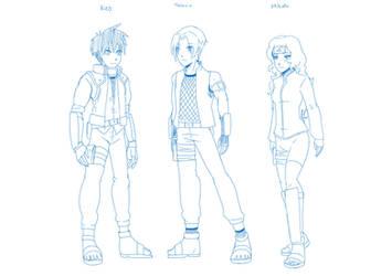 5 OCs Neo Toshiro and Mikoto by mattwilson83