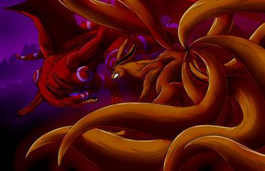 NHC: Kurama Vs Dragon by mattwilson83