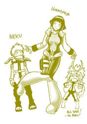 5 MHA Naruto Crossover Hinaraka and Neku by mattwilson83