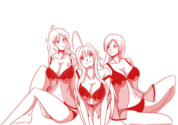 1 Nami Rias and Orihime lingerie by mattwilson83