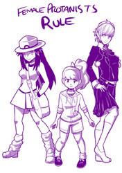 3 Leaf Katie Minako Female Protagonists Rules by mattwilson83