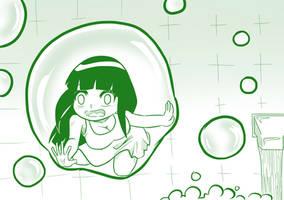 2 Hinata in a Bubble by mattwilson83