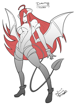 Red-Headed Succubus Izalith