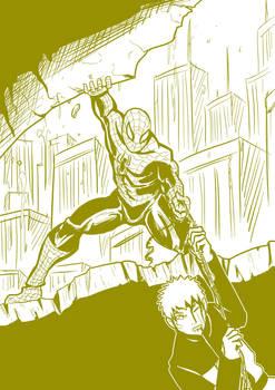 5 Spiderman rescues naruto
