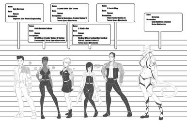 Space Frontier Station 12  Character sheets