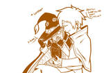 4 konosuba - Kazuma tickles Megumins foot