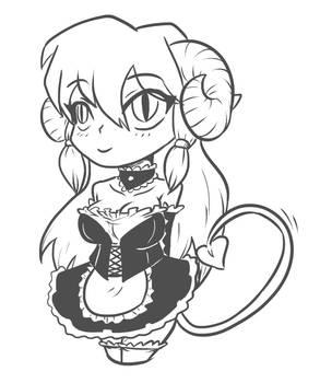 tiefling maid Veronica