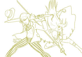 5 5th Doctor Vs Sephiroth GUNBLADE