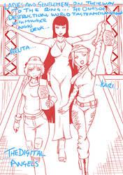 2 Tag Team Champs Aelita and Kari with OC Nikki
