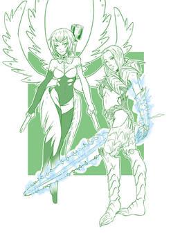 2 DMC - Lady and Trish Boss costumes