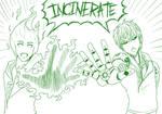 2 Hikaru and Genos INCINERATE