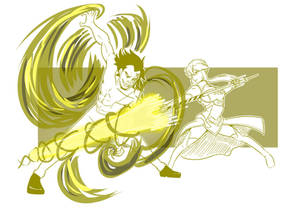 5 Monkey D Dragon Vs Lancer Artoria Sparring