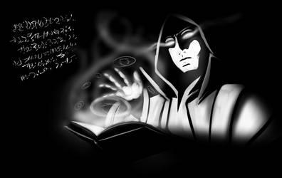 DND Wizard casting a spell