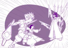 3 KHA - Sora and Mulan Vs Xaldin