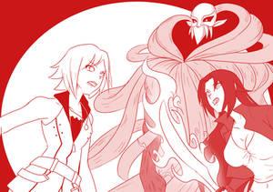1Satsuki and Kairi Vs Dark Element