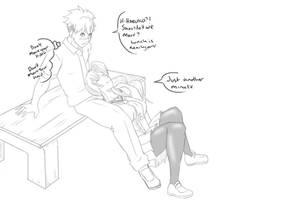 Sketch Theme - Couples 13 - Takeru and Haruko