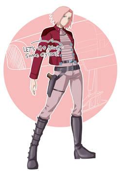 Sketch Theme - Sci Fi 06 - Captain Sakura BSK