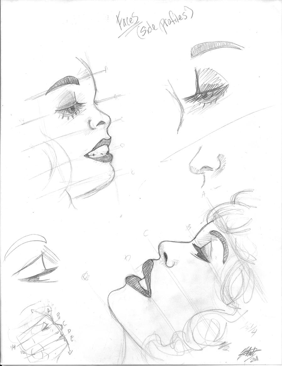 Side Face Profile Drawing