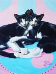 The twin cats by SakaimeKanae