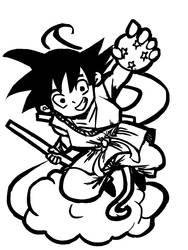 Fanart Friday? Goku! by 0neDay