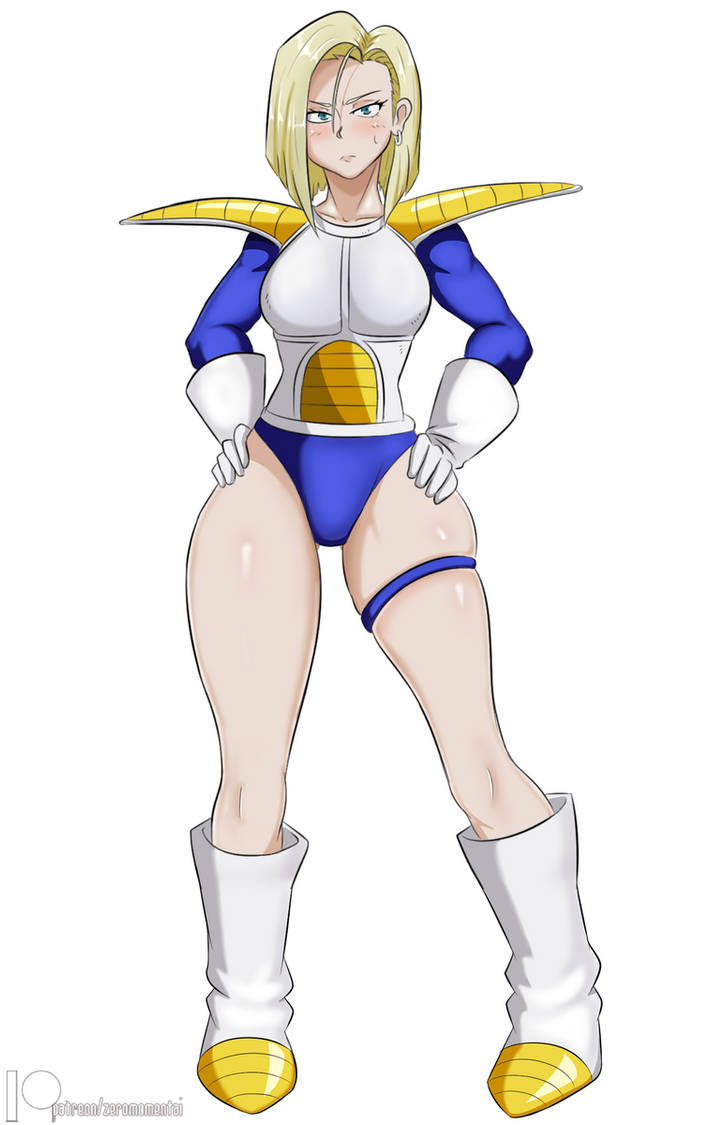 Sayian Armor Android 18 by ZeroMomentai