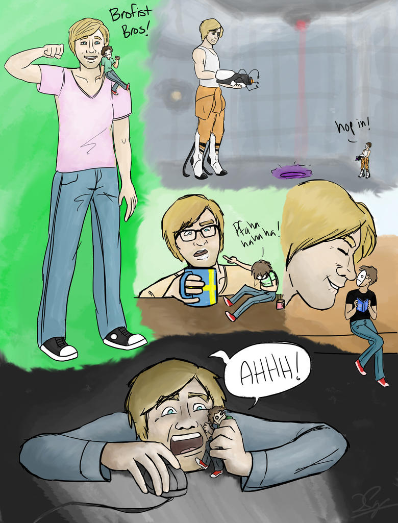 Pewdiepie and Cry by MadamMibale on DeviantArt