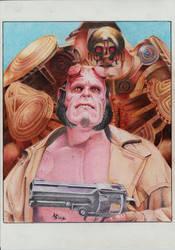 Hellboy fanart ballpoint pen