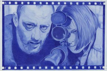 Tribute  to Leon ballpointpen art