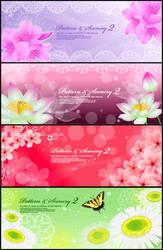 romantic flower vectors
