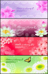 romantic flower vectors