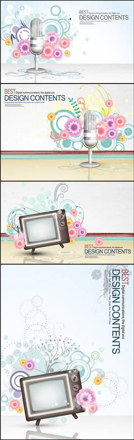 best flower design vectors