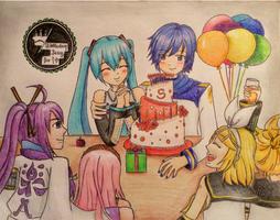 Birthday Song for Miku~ by JenifaRitsukiwa