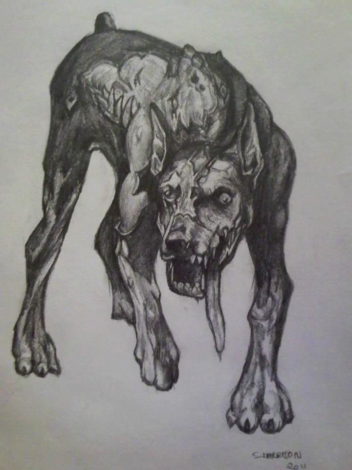 Zombie Dogs Resident Evil Drawings
